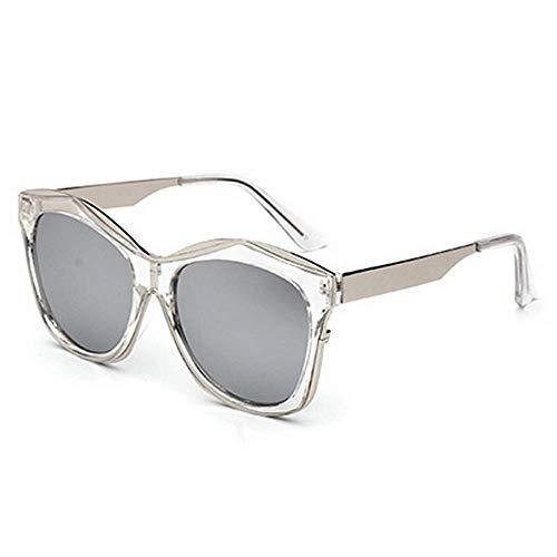 JFFFFWI Stilvolle Sonnenbrille für Frauen Unregelmäßige Full Frame Cat Eyes Sonnenbrille für Männer Frauen Farbige Linse UV400-Schutz Fahren Radfahren Laufen Angeln Golf UV-Schutz Sonnenbrille (Farb