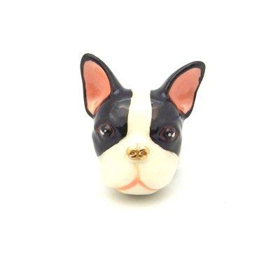 Anillo de diseño de Bulldog Francés COCO - tamaño pequeño/medio (talla M)