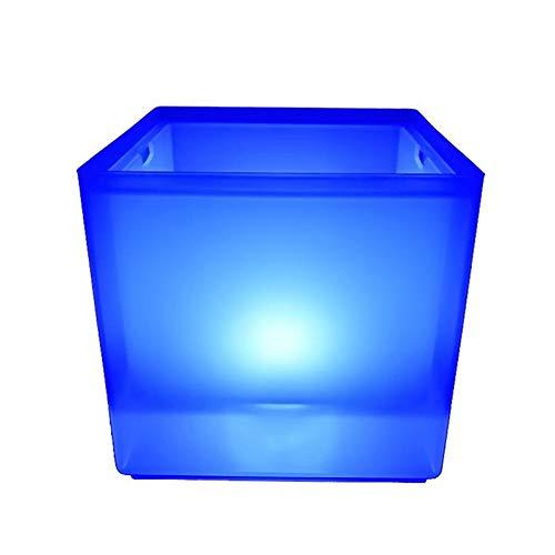 AUOKER LED-Eiseimer, RGB Farbe, doppelschichtig, quadratisch, RGB-Farbwechsel, langlebiger Eisweineimer - 3,5 l - 5 Quart-schalen