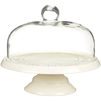 KitchenCraft Classic Collection 29 cm Ceramic Cake Stand with Glass Dome  sc 1 st  Amazon UK & KitchenCraft Classic Collection 29 cm Ceramic Cake Stand with Glass ...