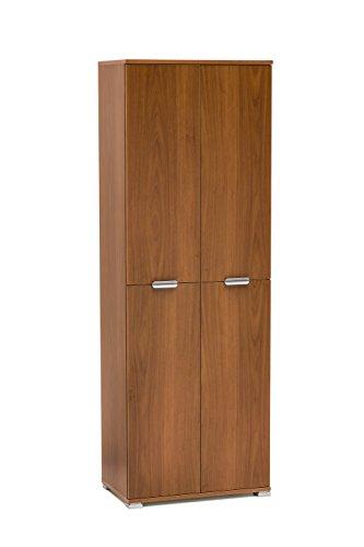 Memi me1618noc armadio, legno, noce, 36.5x60x174 cm