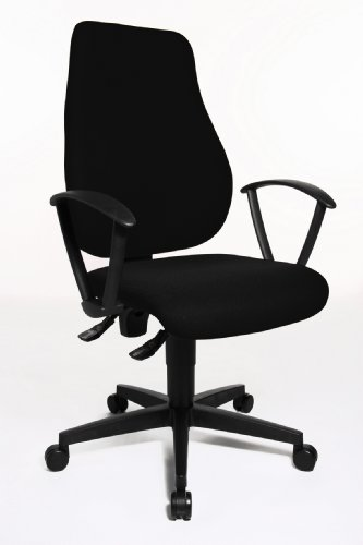 Topstar Trend Star 10 Comfortable Office Swivel Chair with Fix Ring Armrests – Black Special