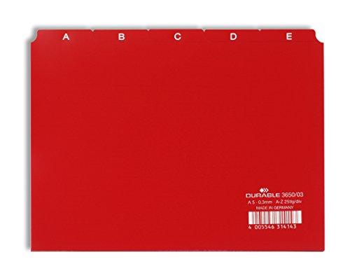 Durable 365003 Leitregister A - Z (A5 quer) 1 Stück rot