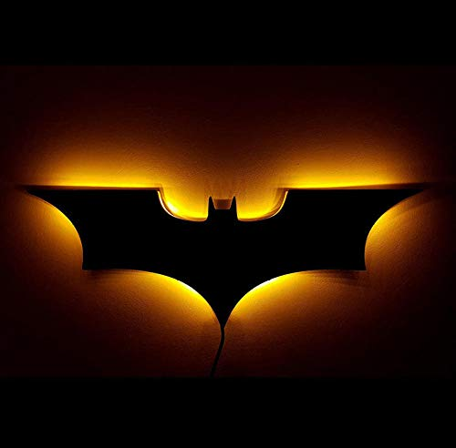 Creative télécommande LED nuit lumière 3D Batman applique murale décoration de la maison lampe lampe de chevet signe la lumière