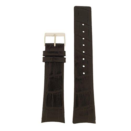 Skagen Uhrband Wechselarmband LB-SKW6000 Original Ersatzband SKW6000 Uhrenarmband Leder 25 mm Schwar