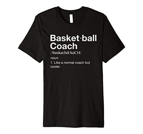 Koch Fitted T-shirt (BASKETBALL Coach TShirt Geschenk Funny Basketball Definition Tee)
