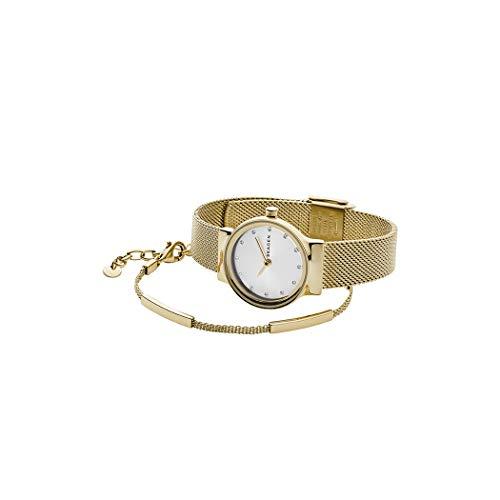 Skagen Freja - Gold Mesh Edelstahl Damen Damen + Gold Tone Armband SKW1108 (Damen Gold Mesh Skagen Watch)
