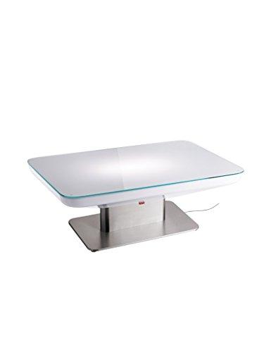 moree Lounge Tisch Studio Indoor 36 Weiß Edelstahl IP20   Inklusive Leuchtmittel: S14d 60W 420lm warmweiß   16-02-01