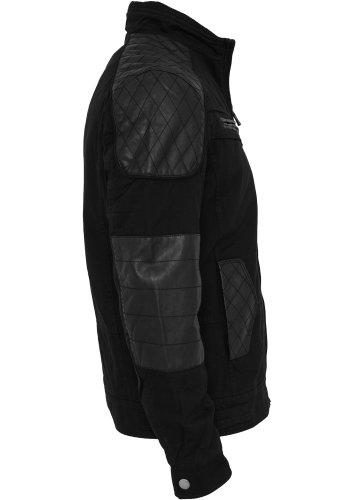 URBAN CLASSICS – Cotton/Leathermix Racer (black) – Jacke - 2
