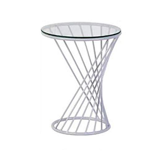 LXZ#Homegift Runder Tisch Spirale Kunst Couchtisch Glas Tischplatte feine Taille Couchtisch Hohle...