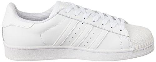 adidas Superstar Foundation, Unisex-Erwachsene Sneakers, Weiß (Ftwr White/Ftwr White/Ftwr White), EU 44 - 7