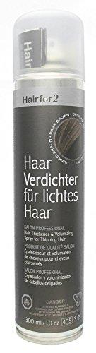 Hairfor2 Haarverdichtungsspray dunkelbraun, 1er Pack (1 x 300 g)