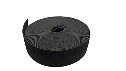 1 Wide 5 Meters Long Black Springy Stretch Knitting Elastic Band Spool With High Elasticity by Hongxin LAttice