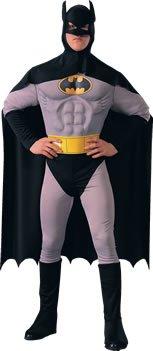 Batman-Muskel Brust-Erwachsene - Batman Muskel Brust Für Erwachsene Kostüm