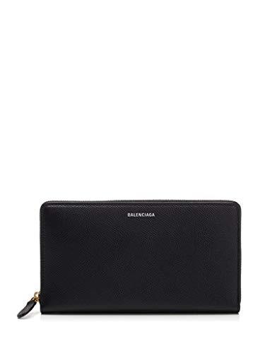 Balenciaga Damen 5659910Otgm1000 Schwarz Leder Brieftaschen