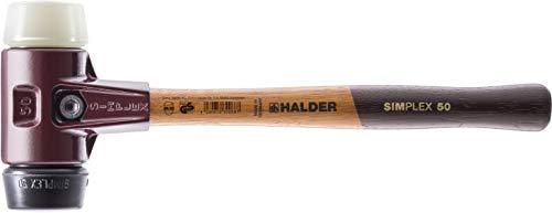 "Halder 3028080 Maillet""Simlpex"" EH 3028 80mm en caoutchouc/nylon, Multicolore"