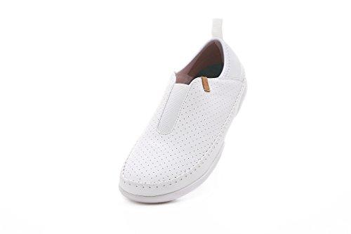 UIN Damen Torres Casual Microfaser Loafer Schuhe Weiß(38) -