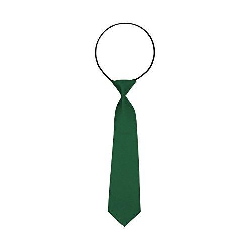 Oblique-Unique® Kinder Krawatte mit flexiblem Gummiband Junge (Grün) (Grün Jungen Kinder)