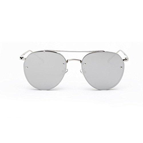 OverDose Katzenauge Metall Rand Rahmen Damen Frau Mode Sonnenbrille Verspiegelt Linse Women Sunglasses Katzenaugen (E)