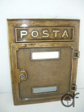 Élégant Boîte aux lettres boîte aux lettres en laiton massicio encastrable