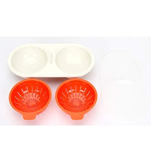 ClookYeed Tragbare Mikrowelle Ei Kochen Cup Egg Bolier Eier Wilderer mit Deckel Eier Herd Kreatives Zuhause Küchenwerkzeug