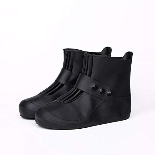 Z&X Regen-und Schneewassersicherheit Schuhcover wiederverwendbar Injection-Integrated Overshoes Rain Boots Women ' S Protective Wear Men ' S Boys and Girls,32/33 (Overshoe Boots)