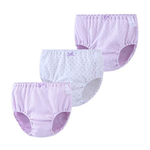 Zhongke Baby Girl Sous-vêtements Pur Coton Motif Enfant Mignon Pantalon Sous-vêtements (lot de 3)