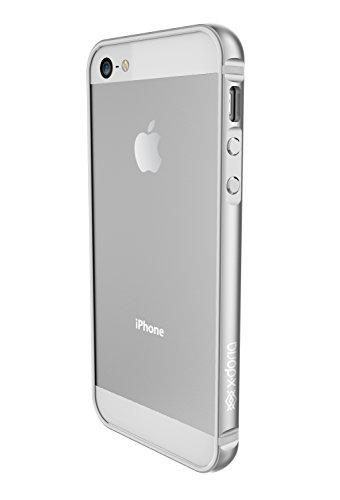 X-Doria Bump Gear Plus Aluminium Clip-On Hülle Case Cover mit Gummi-Einlage für iPhone 5SE - - Aluminium Iphone Bumper 4s Case