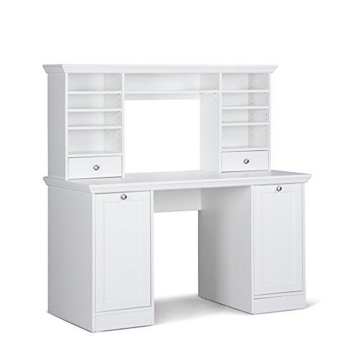 Intertrade 001736 Schreibtisch - Bürotisch Woody 32 mit Aufsatz, 5 x 63 cm, dekor weiß
