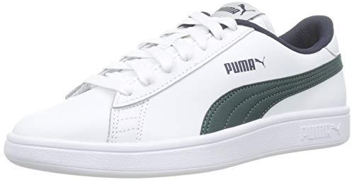 Puma Smash v2 L Jr, Scarpe da Ginnastica Basse Unisex-Bambini, Bianco White, 35.5 EU