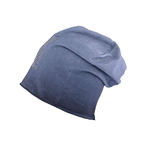 JBB COUTURE Bonnet Oversize I'm Boss Bleu - Mixte