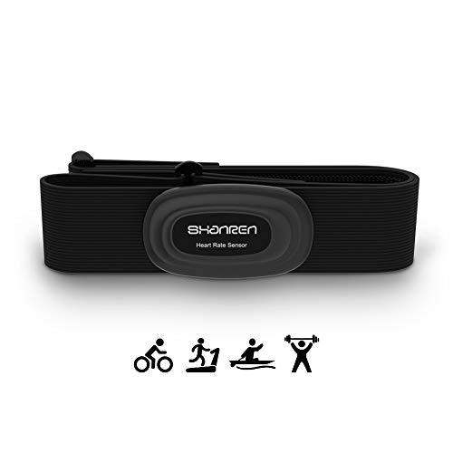 SHANREN Herzfrequenzmesser Herzfrequenzsensor Brustgurt Pulsmesser Bluetooth ANT+ Pulsgurt IP68 Wiederaufladbar mit Vibrationsalarm Pulssensor für Joggen Laufen Radfahren Workouts (App Unterstützt)