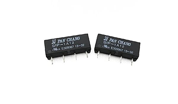 2pcs 12V Relay SIP-1A12 Reed Switch Relay 4PIN for PAN CHANG Relay TOP