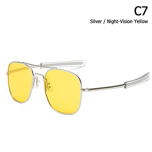 ZHOUYF Sonnenbrille Fahrerbrille Mode Polarisierte Ao Armee Militärischen Stil Luftfahrt Sonnenbrille Männer Fahren Markendesign Sonnenbrille Oculos De Sol, F