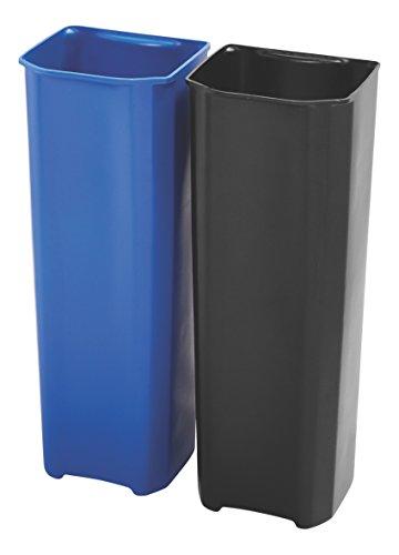 Rubbermaid Slim Jim 1902011 90 Litre End Step Step-On Stainless Steel Wastebasket Dual Rigid Liner Set (Rubbermaid Slim Jim Mülleimer)