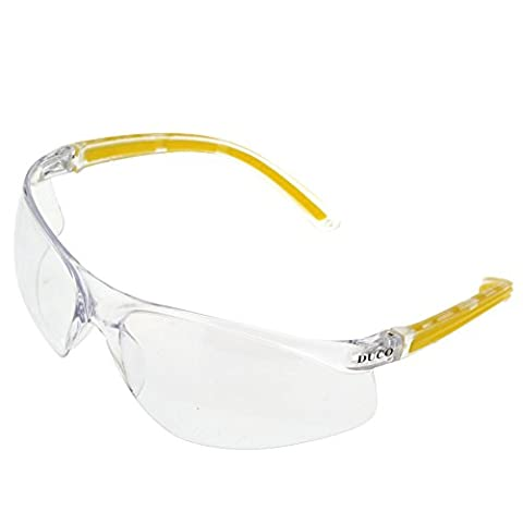 DUCO Schutzbrille Arbeitsschutzbrille Vollschutzbrille wind- und kratzfest beschlagfrei und Anti-Rutsch-Griff UV400 Schutz