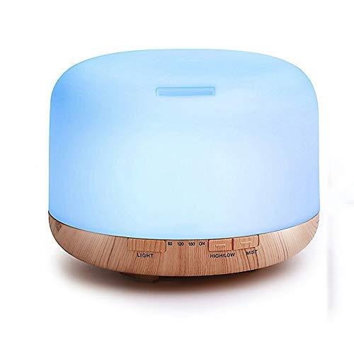 Wc-kYT Aroma difusor humidificador ultrasónico portátil 500 ml hogar purificador silencioso Luces LED y Dispositivo de Cierre automático sin Agua, Adecuado para la Oficina en casa (Color : A)