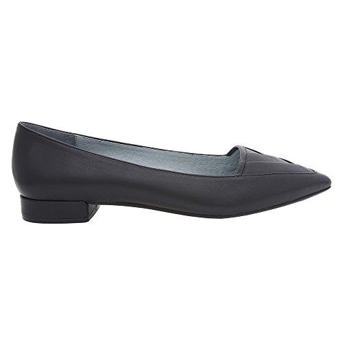 Nina Zelima Femmes Cuir Chaussure Plate Black