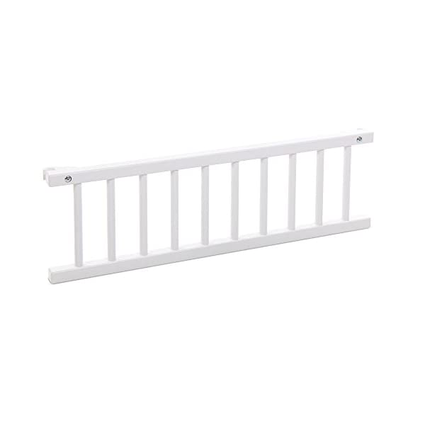 Babybay Guardrail for bedside sleeper Cot, White Varnished babybay Made of solid wood Comes with the locking clip Fit for original, mini and midi co-sleeper cot 1
