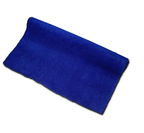 Rotolo moquette adesiva liscia 70x140 cm colore blu royal fonoassorbente rivestimento acustico auto pannelli