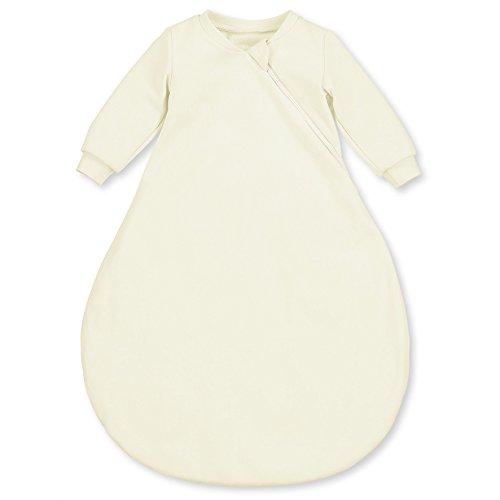 Sterntaler Leichter Schlafsack für Babys, Mit Ärmeln, Reißverschluss, Größe: 50, Crème