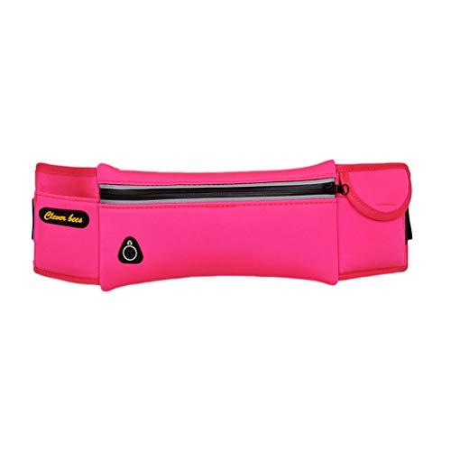 DEtrade Hüfttaschen für Männer und Frauen Gürtelttasche Hüfttasche Reißverschluss Hüfttaschen Sports Gürteltasche für Handy (Pink)