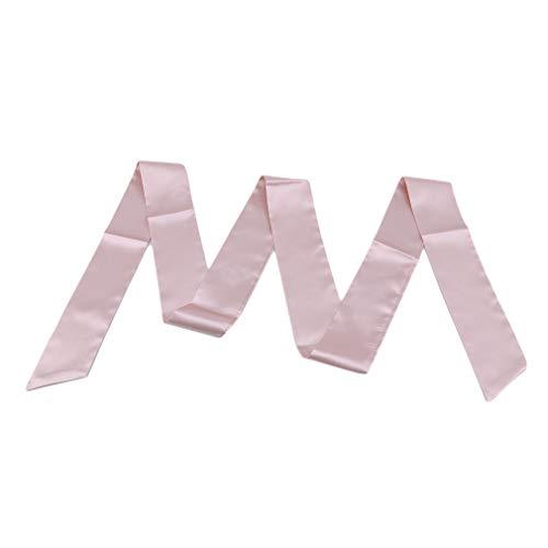Yinew Lange Seide Gürtel Glatte Krawatte Schal Krawatte Mehrzweck Headwrap Handtasche Ornament Geschenk Für Frauen, Champagner