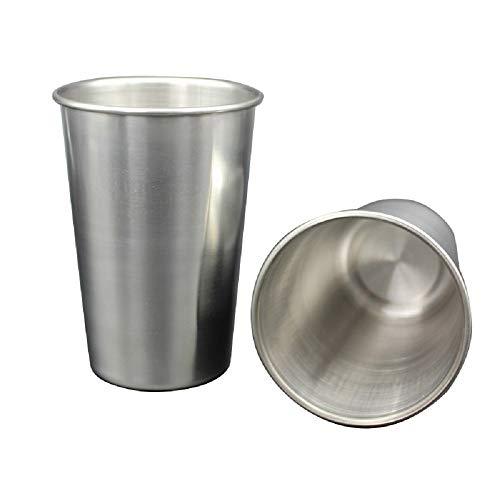 FEDBNET Lebensmittelqualität Edelstahl Trinkbecher Metall Bierbecher Wein Becher Kaffee Tee Milch Becher 30 ml/50 ml/180 ml/320 ml 180ml siehe abbildung - Metall-milch