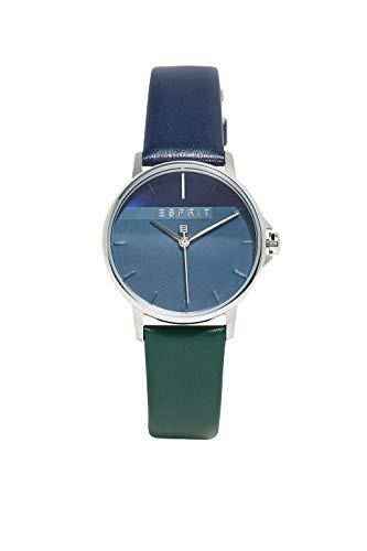 Esprit Damen Analog Quarz Uhr mit Leder Armband ES1L065L0045