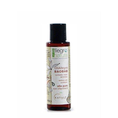 ALLEGRO NATURA - Huile de Baobab Bio - Pour le visage et le corps - Pour peau impure et avec acné - Contre les radicaux libres - Empêche les marques de vergetures rouges - 100 ml