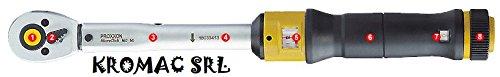 """Proxxon 23350 Drehmomentschüssel (Ratsche, Umschaltknarre), 3/8\"""" Vierkantantrieb, für 12-60 Nm-Gesamtlänge: 370 mm"""