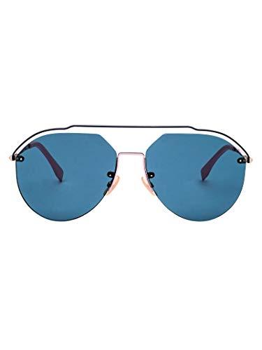 Fendi Herren Ffm0031s3ygmt Blau Metall Sonnenbrille