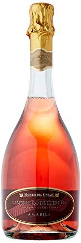 Maestri Del Casale Lambrusco Galla Rosado - Paquete de 6 botellas de 75 - Total 450 cl
