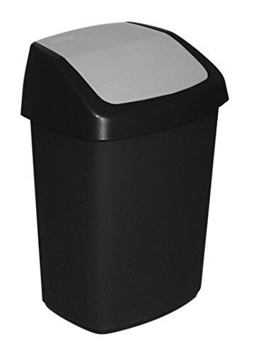 CURVER 229392Swing Abfalleimer Kunststoff schwarz/grau 33,2x 41x 26,8cm 25L
